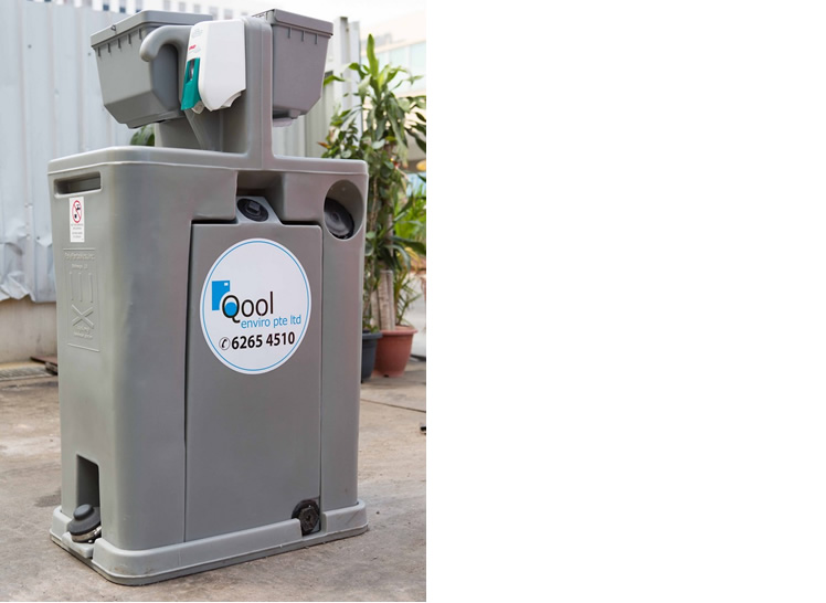 Qool Enviro portable hand wash station