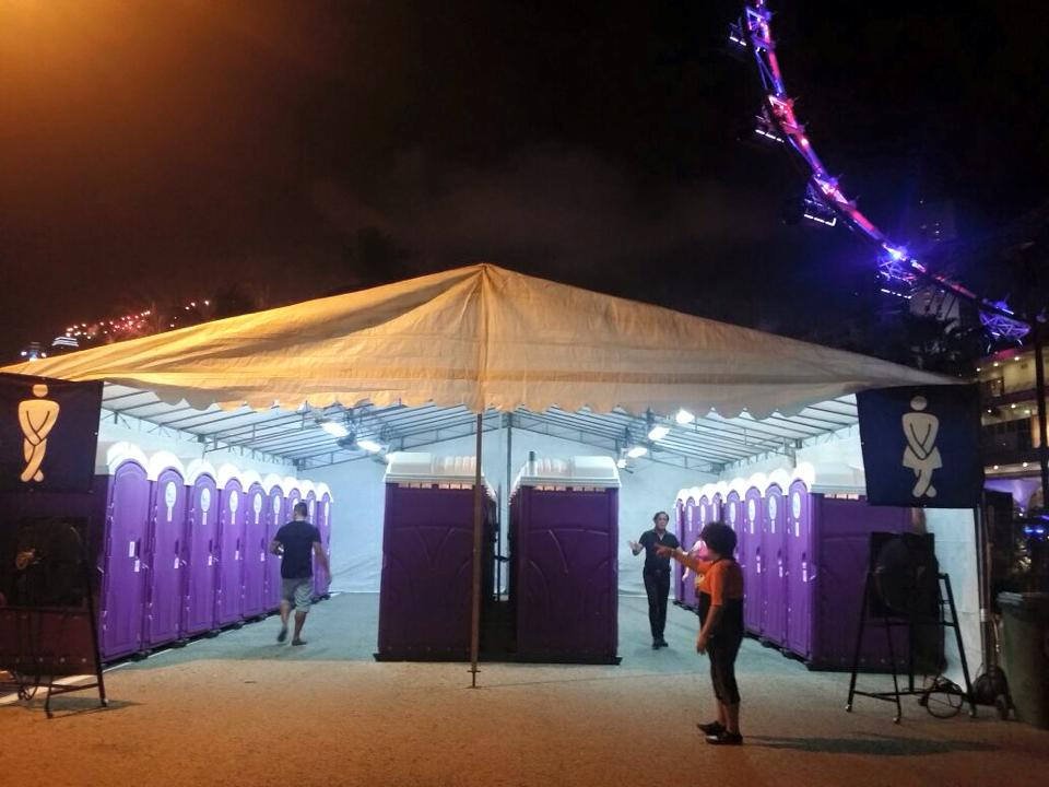 Qool Enviro portable toilet in beerfest 2015