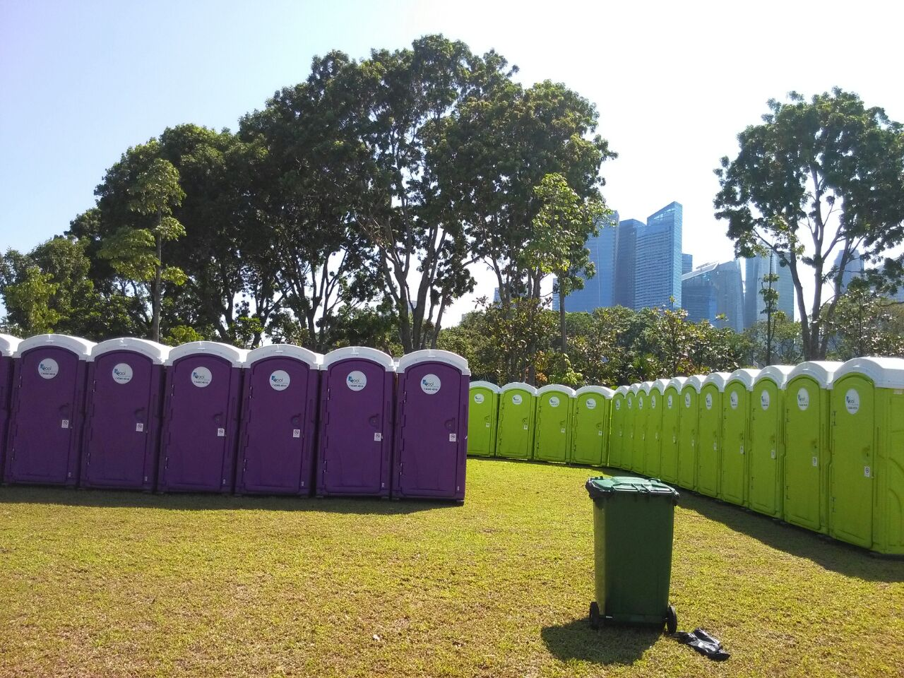 Qool Enviro portable toilet in cold storage kids run