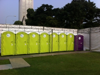 Qool Enviro portable toilet in rugby 7s 3
