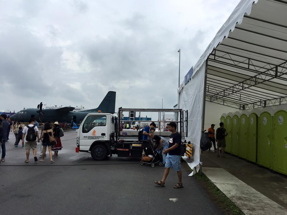qool enviro portable toilet in singapore airshow 2016