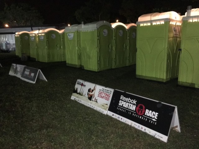 qool enviro portable toilet in spartan race 5