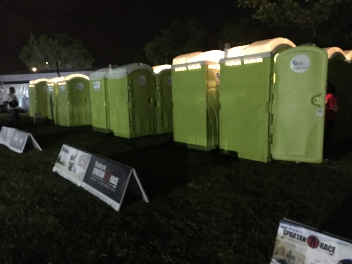 qool enviro portable toilet in spartan race 6