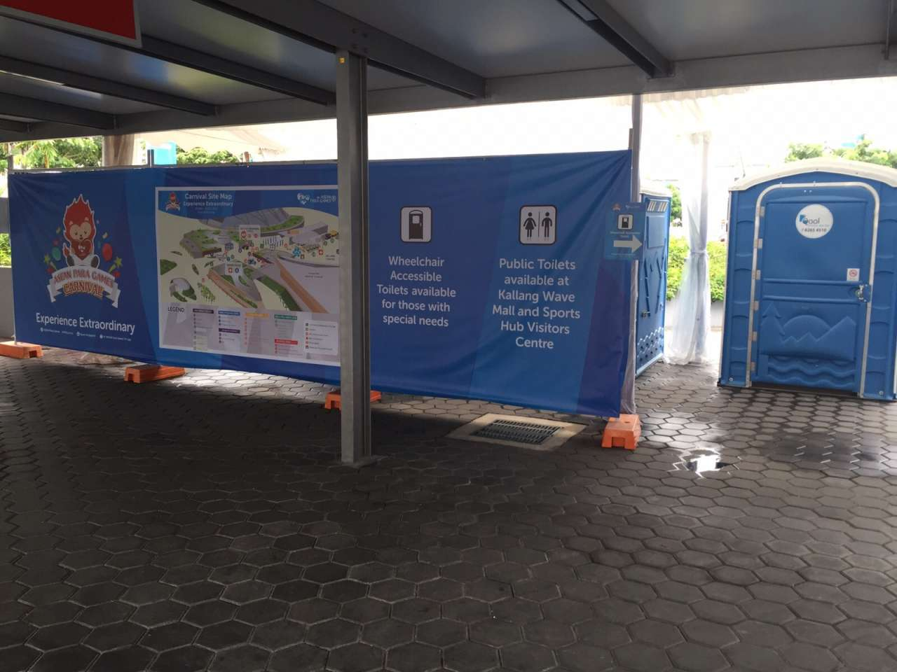 Qool Enviro portable toilet in 8th asean para games 2015