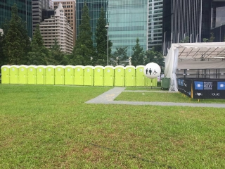 qool enviro portable toilets in bloomberg square mile relay singapore 20152