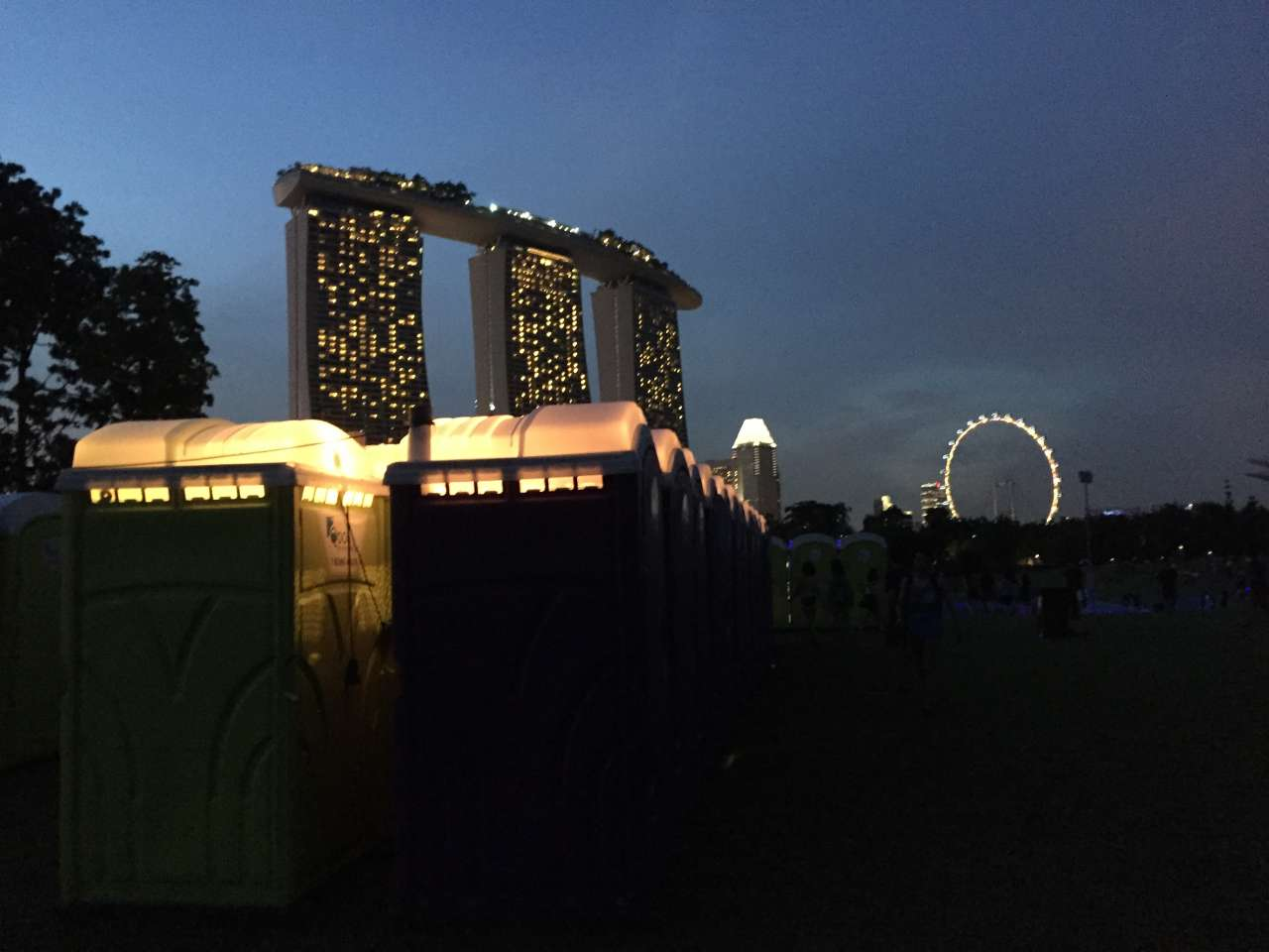 Qool Enviro portable toilet in i am hardwell singapore 2015